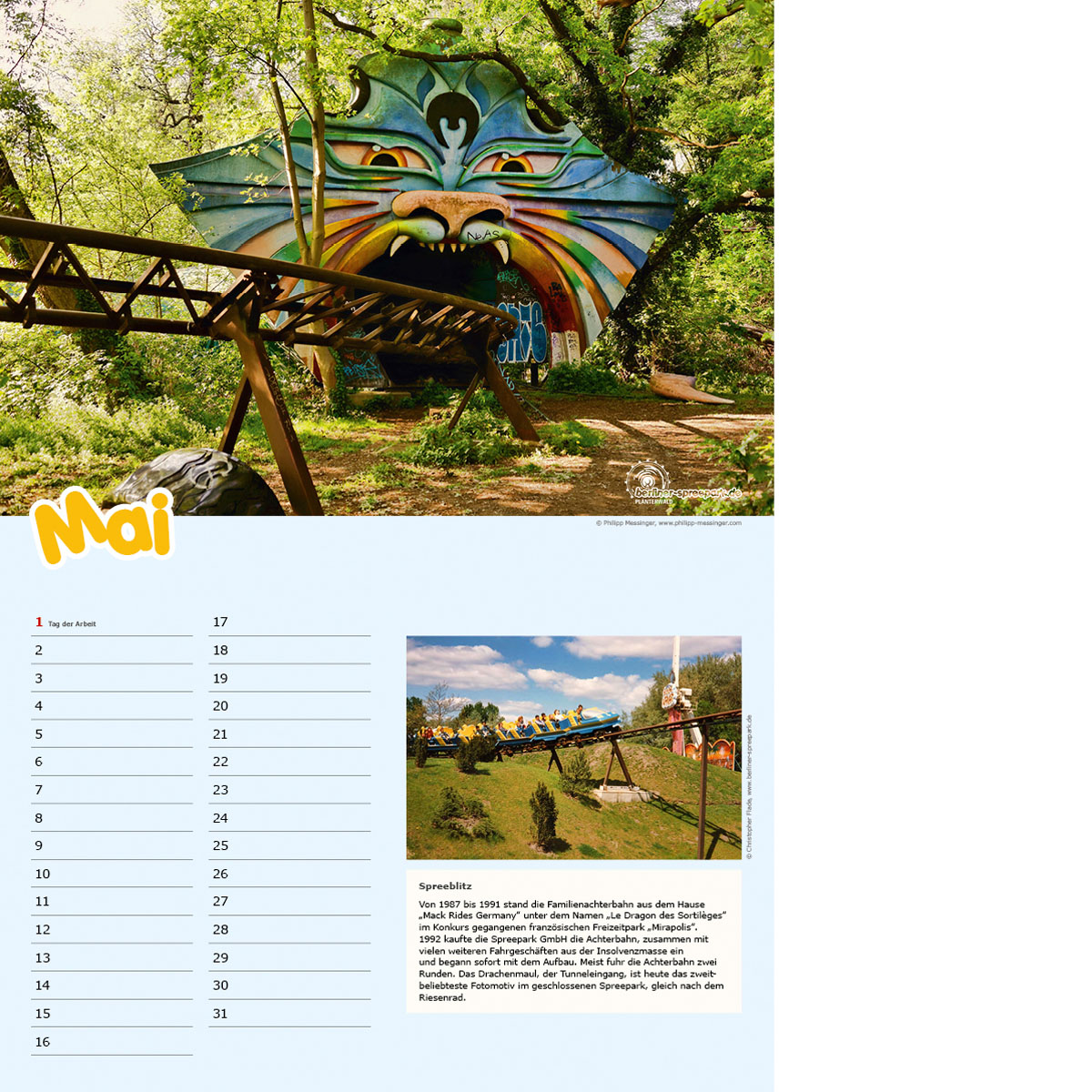 Spreepark Fankalender